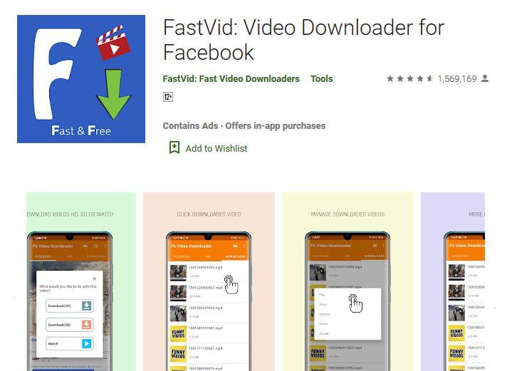 Fastvid – завантажуйте відео з Фейсбук